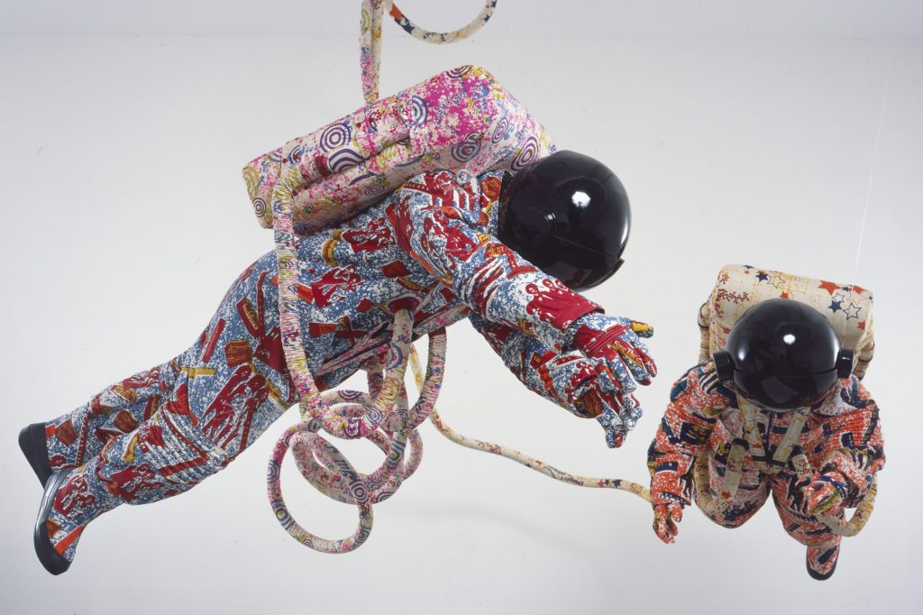 Yinka Shonibare, in collaboration with The Fabric Workshop and Museum, Space Walk, 2002.