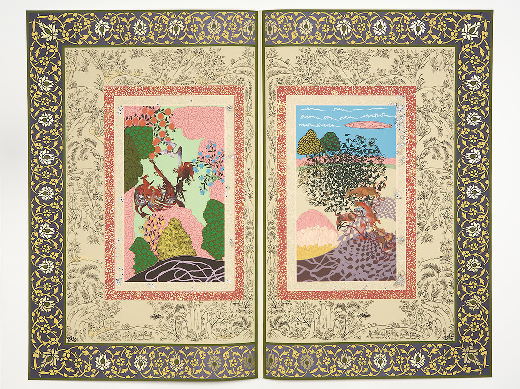 """WS- Shahzia Sikander, """"The Illustrated Page Series #?"""" 2005-06"""
