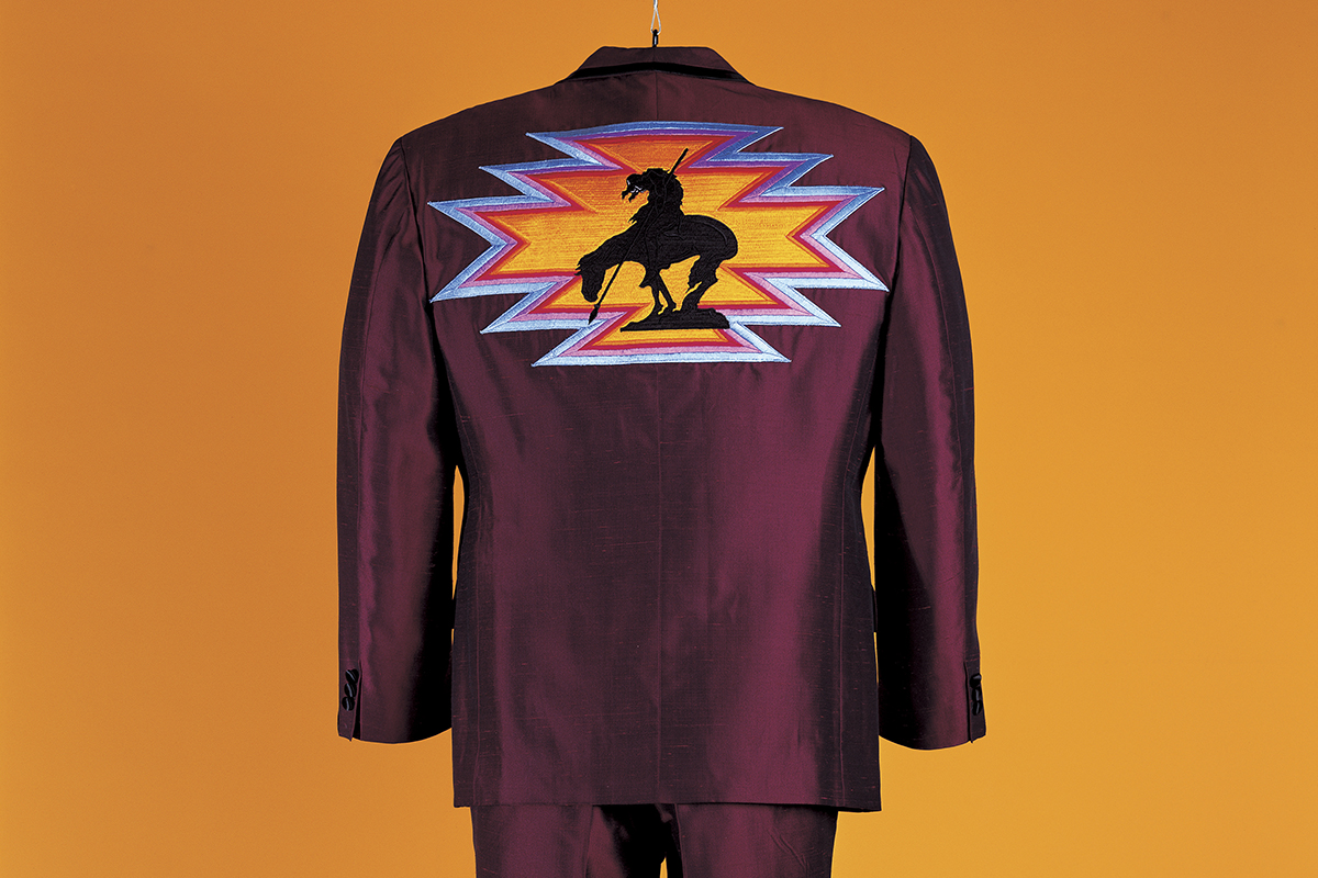 James Luna, Indian Lounge Suit, 1997.